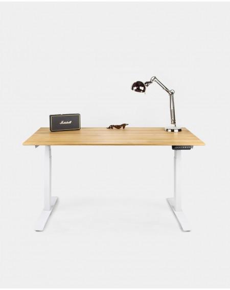 Biurko dębowe z elektryczną regulacją wysokości - 237 Meble industrialne do biura