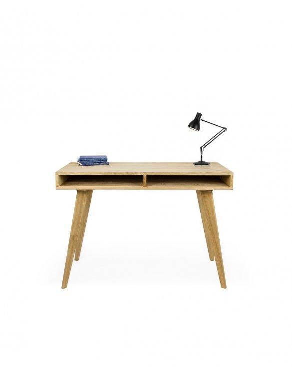 designerskie biurko dębowe