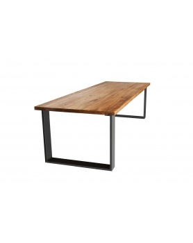 Stół drewniany z metalowymi, szczotkowanymi nogami w stylu loftowym / industrialnym - 33 Stoły