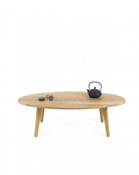 Stolik Dębowy owalny W Skandynawskim Stylu 35 cm - 274 Stoliki kawowe