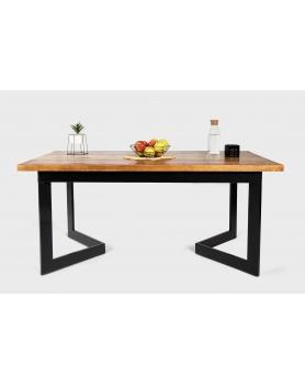 Stół drewniany z metalowymi nogami w kształcie V w stylu loftowym / industrialnym - 34 Stoły