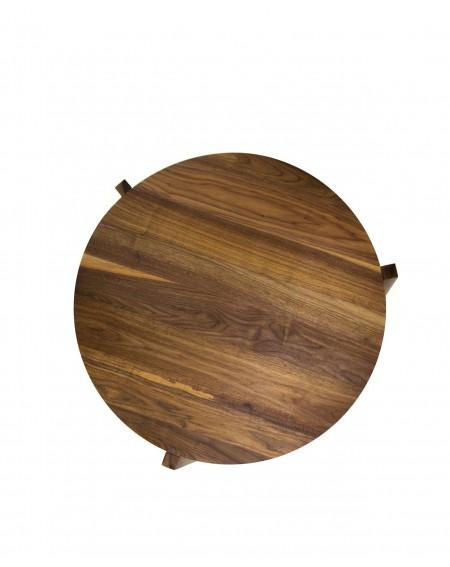Stolik Kawowy Okrągły W Skandynawskim Stylu / Orzech - 293 Stoliki kawowe