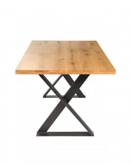 Loftowy Stół Do Jadalni Dąb/Metal - 306 Stoły