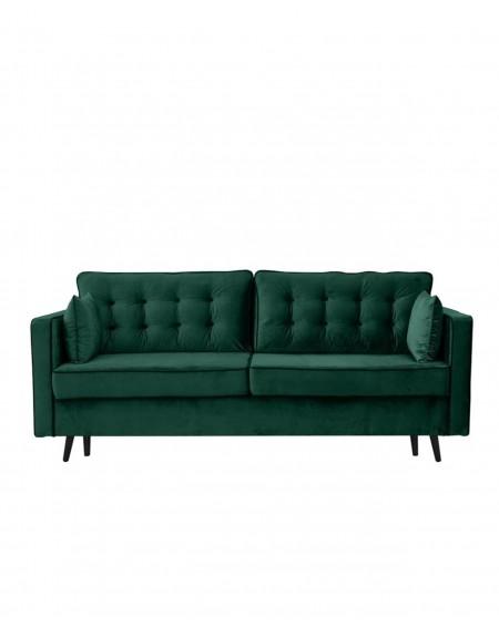 Sofa Glamour Pikowana 3 - Osobowa / Butelkowa Zieleń - 321 Kanapy i sofy