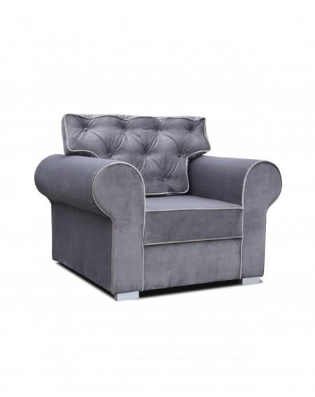 Fotel Glamour Gray Pikowany - 327 Fotele i pufy