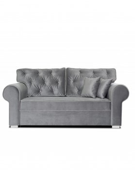 Sofa Glamour Gray Pikowana 2 - Osobowa - 328 Kanapy i sofy