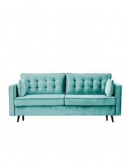 Sofa Glamour Pikowana 3 - Osobowa / Mint - 344 Kanapy i sofy