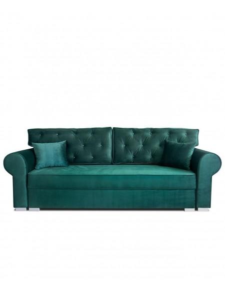 Sofa Glamour Green Pikowana 3 - Osobowa - 347 Kanapy i sofy