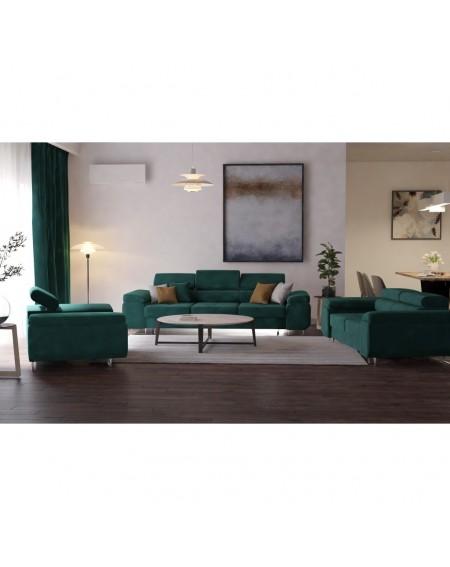 Zestaw wypoczynkowy Green Z Regulowanymi Zagłówkami - 353 Fotele i pufy