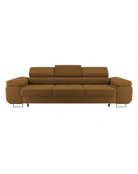 Sofa Gold 3 - Osobowa Z Regulowanymi Zagłówkami - 354 Kanapy i sofy