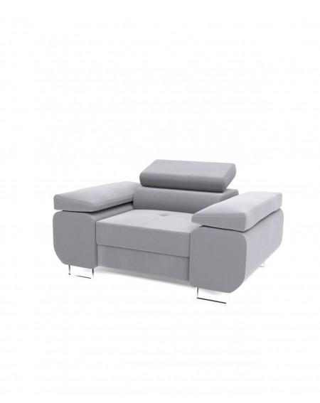Fotel White Z Regulowanymi Zagłówkami - 358 Fotele i pufy