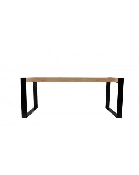 Duży stół z blatem drewnianym i metalowymi nogami 190 cm - 52 Stoły
