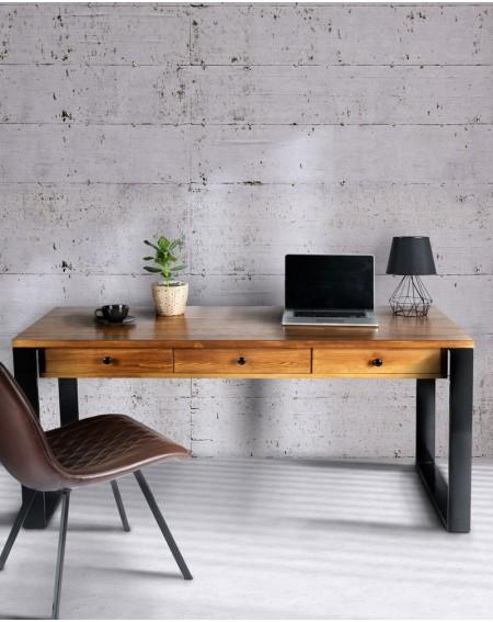 Duże biurko loftowe z 3 szufladami 200 cm - 60 Biurka Loftowe