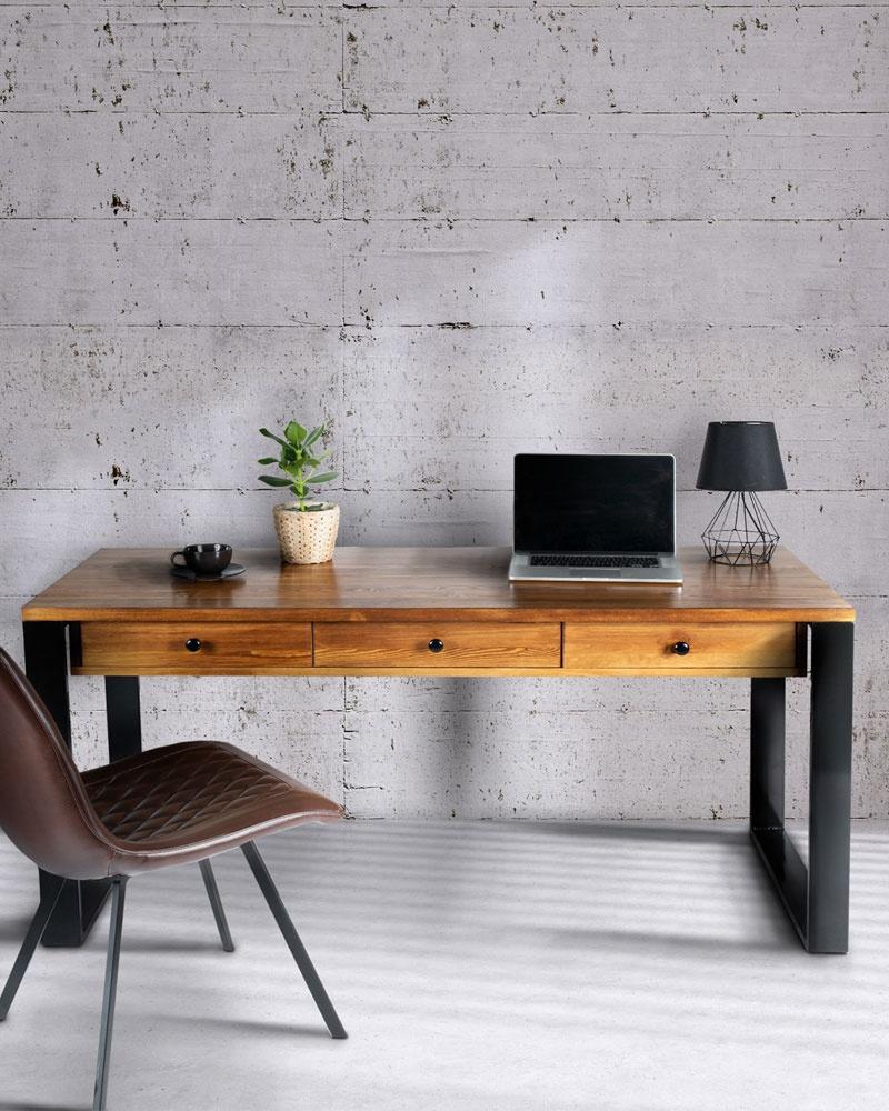 duże biurko loftowe
