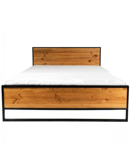 Małżeńskie łóżko industrialne 160x200 - 70 Łóżka
