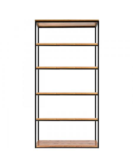 Prosty regał loftowy - 83 Regały loftowe Prosty regał loftowy szer. 100, drewniany z metalową ramąProdukując nasze meble