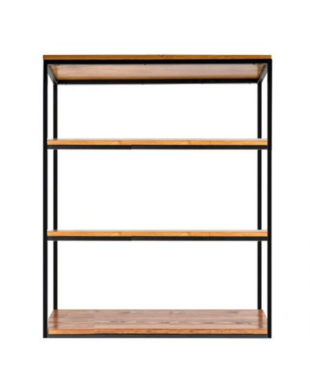 Niski regał loftowy - 93 Regały loftowe Niski regał loftowy 100 cm, drewniany z metalową ramą to idealny wybór dla każdego kt
