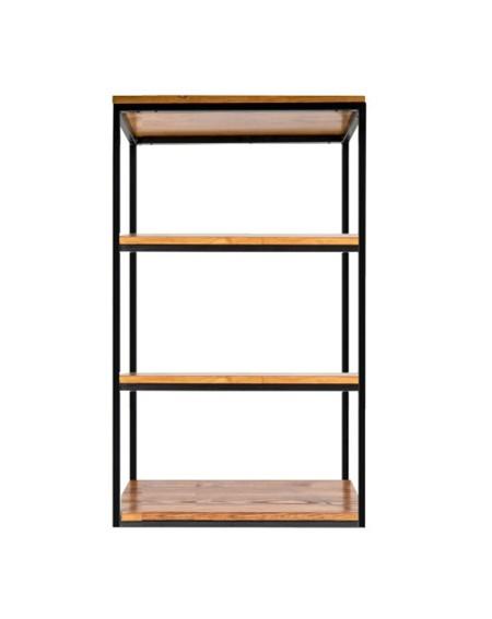 Regał, półka loftowa metal plus drewno - 94 Regały loftowe Regał o szerokości 60 cm, drewniany z metalową ramą to idealny wyb