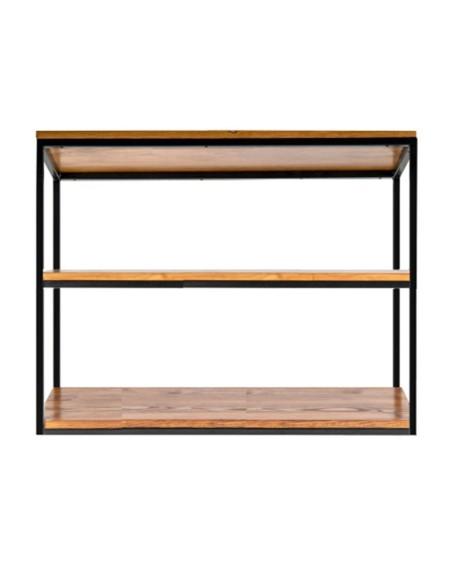 Półka loftowa metal plus drewno - 95 Regały loftowe Półka loftowa 100 cm, drewniana z metalową ramą to idealny wybór dla każ
