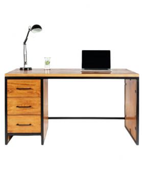 Biurko loftowe z drewna z metalową ramą, biurka loft - 58 Biurka Loftowe Loft - styl industrialny tak można okreslić biurka