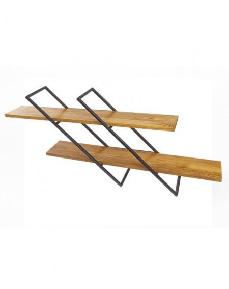 Półka loftowa Naścienna metal/drewno - 119 Regały loftowe