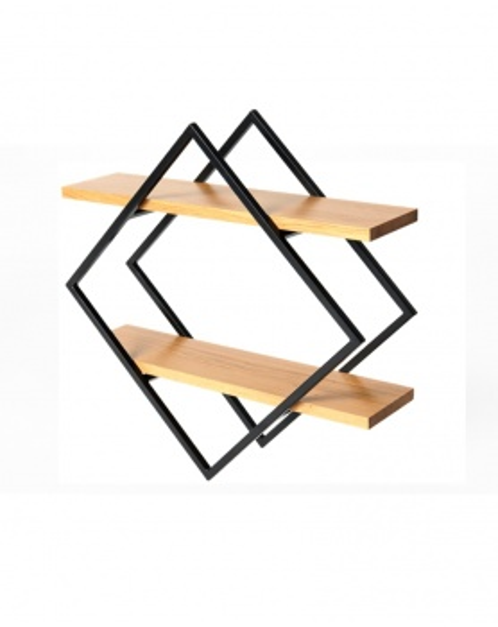 Półka industrialna naścienna metal/drewno - 124 Regały loftowe