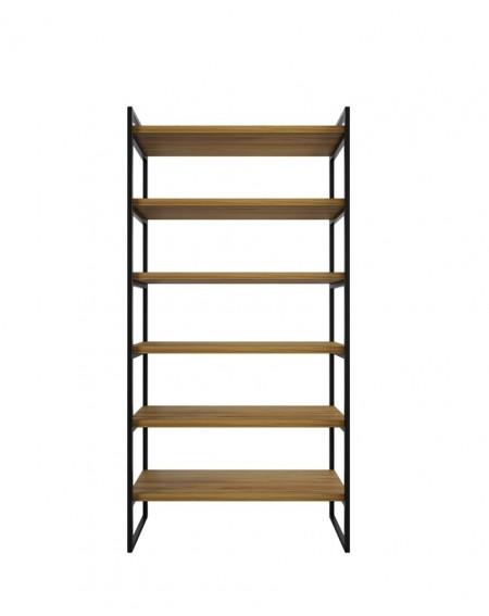 Loftowy Regał Dębowy Wood - 137 Regały loftowe