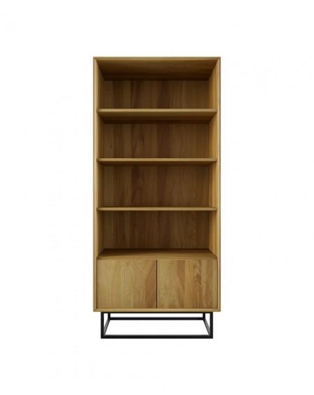 Dębowa Witryna/Regał Wood - 155 Regały loftowe