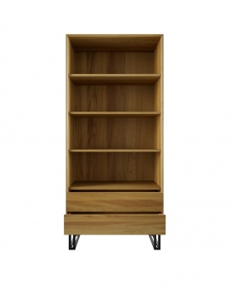 Dębowa Witryna/Regał Wood II - 156 Regały loftowe