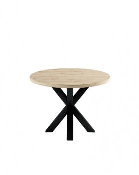 Okrągły stół dębowy Loft - 165 Stoły