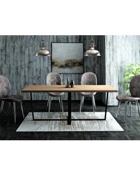 Stół Dębowy Industrial III - 170 Stoły