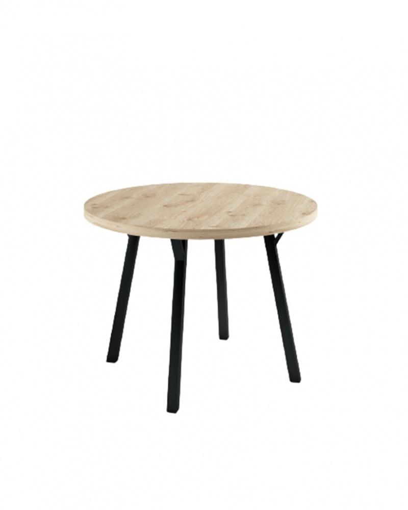 Okrągły stół dębowy Industrial - 182 Stoły