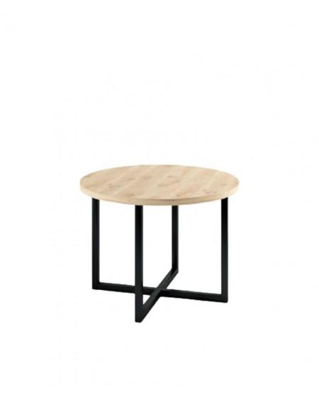 Okrągły stół dębowy Industrial II - 183 Stoły