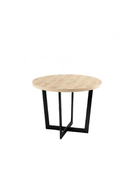 Okrągły stół dębowy Industrial III - 188 Stoły
