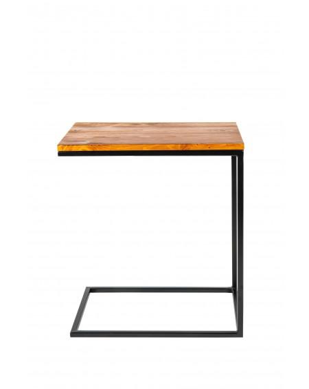 Strolik pod laptopa szer 40 z drewnianym blatem i metalową ramą w stylu loftowym - 27 Stoliki pod laptopa