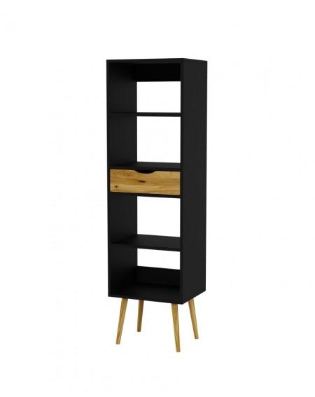 Regał W Stylu Skandynawskim Box Black - 199 Regały loftowe