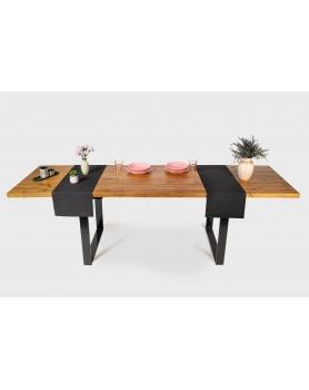 Stół rozkładany z drewnianym blatem i metalowymi nogami w stylu loftowym / industrialnym - 28 Stoły