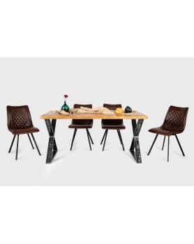 Stół drewniany z metalowymi nogami w stylu loftowym - 29 Stoły